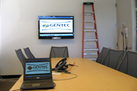 New meeting room installation tested with GENTEC logo