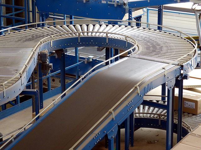 example of conveyor belt system installation in the bay area