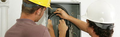 San Ramon Electricians working on electrical panel